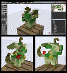 Minecraft Zombie Leafeon Mob v-0.5.0