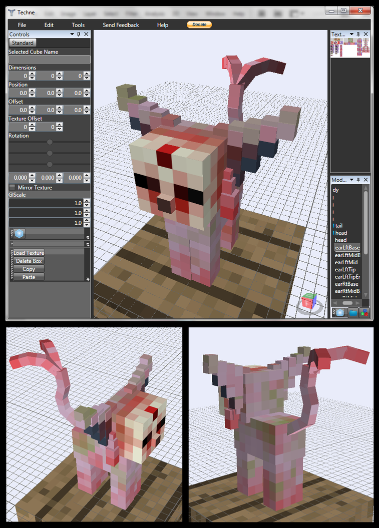 Minecraft Zombie Espeon Mob v0.5.0 by FuzzyAcornIndustries