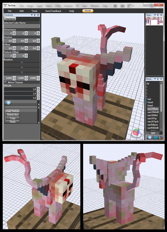 Minecraft Zombie Espeon Mob v0.5.0 by FuzzyAcornIndustries