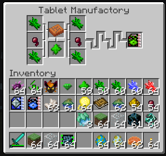Tablet Manufactory Interface