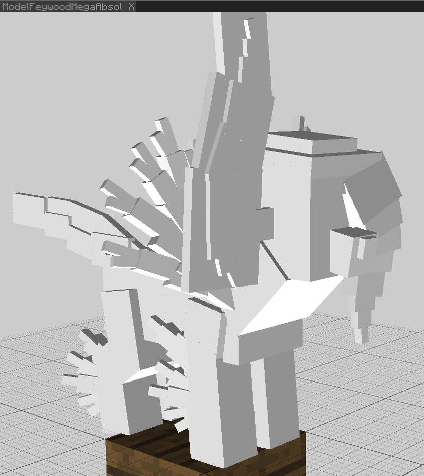 Feywood Mega Absol Model Sample WIP