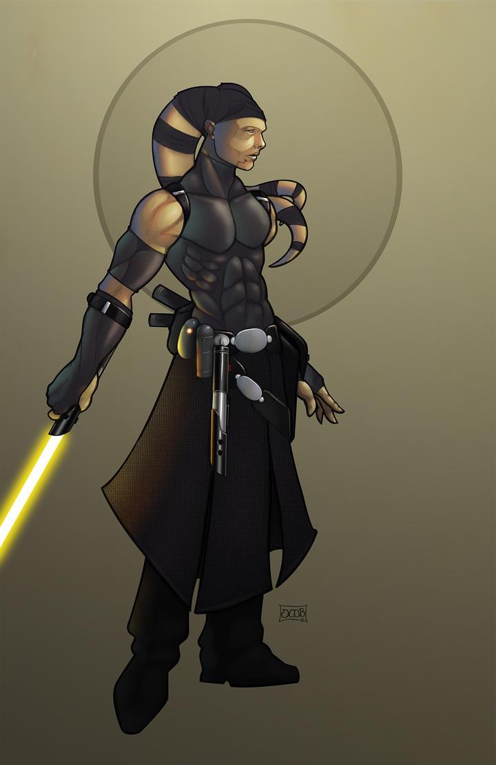Tri'stram Doneeta: Grey Jedi by Dunlaoch