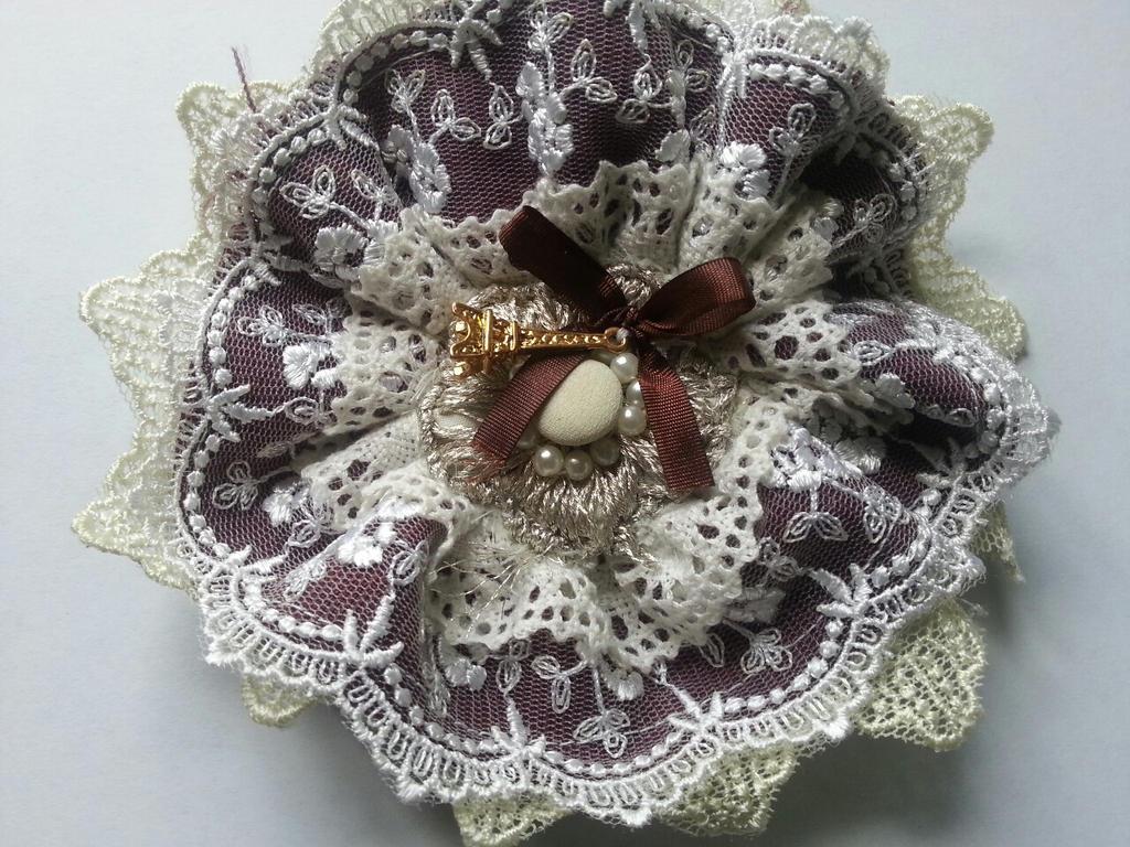 Lolita Lace Fabric Brooch by Jazine on DeviantArt