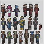 Guardians of the galaxy perler bead