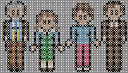 Doctor who and the daleks perler beads  by geek-2perlerbeads