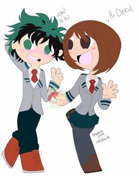Deku and Ururaka!