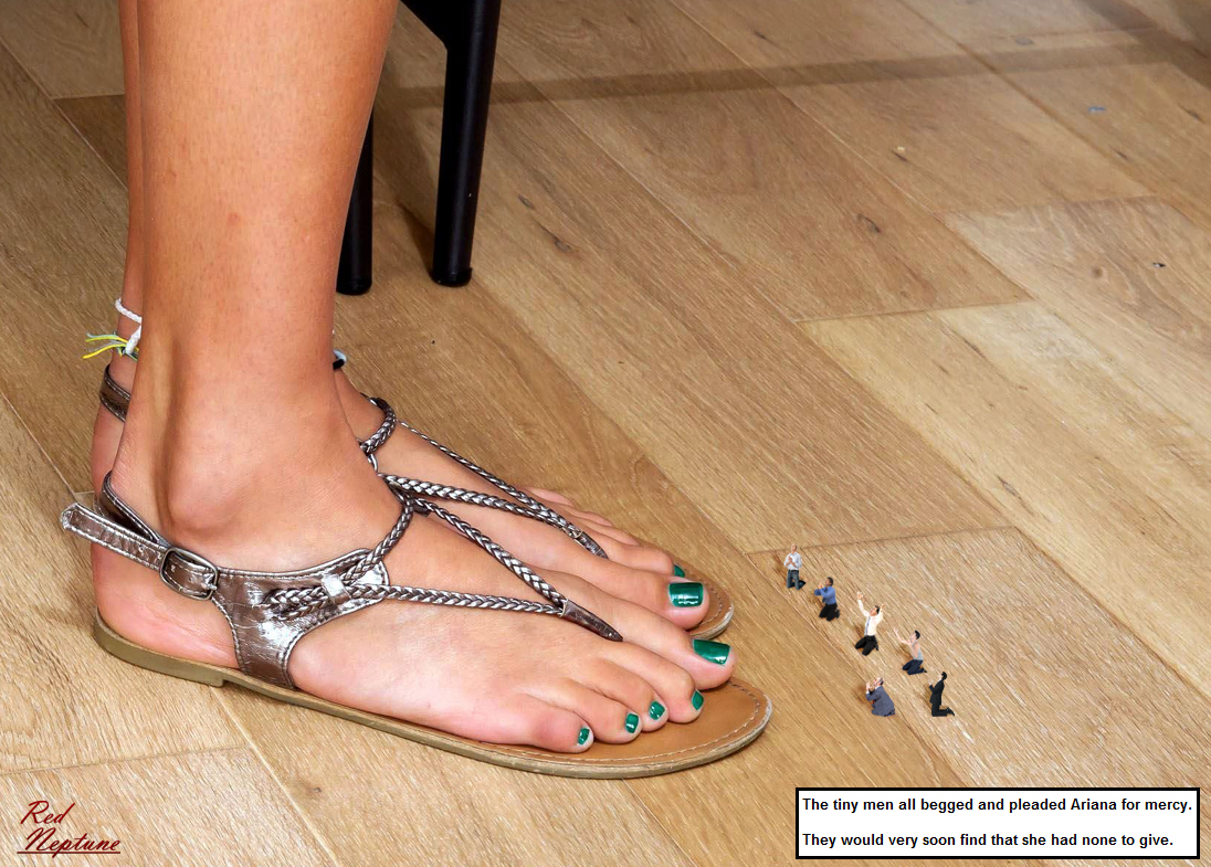 giantess foot crush