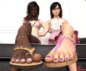 Dual Sandal Tease