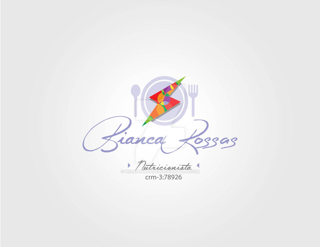 logotipo Bianca Rossas Nutriocionista - Op. 01 by williamsoares