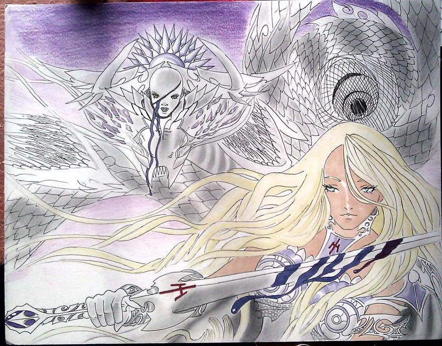 Armored Teresa in battle by 7artfan7
