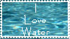 I Love Water Stamp