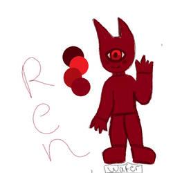Ren my red baby!! by WaferDoesArt