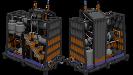 Miniature PUREX nuclear waste treatment plant