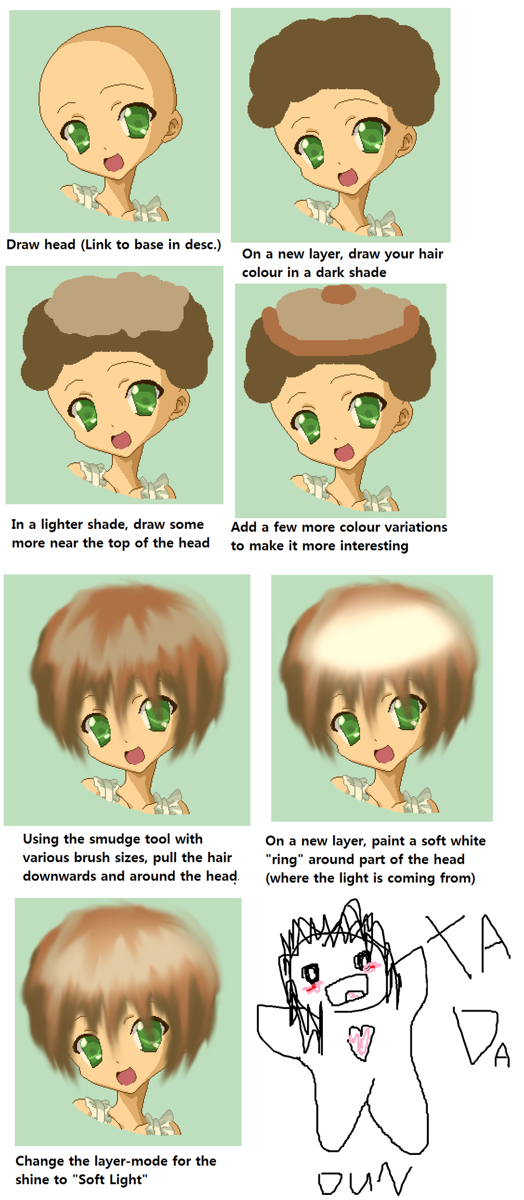 how to draw realistic hair tutorial
