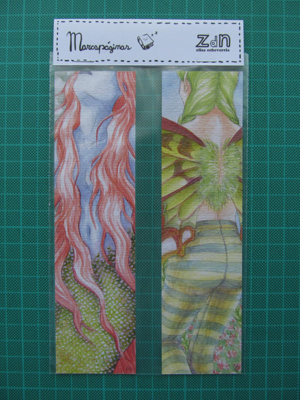sirena y hada bookmarks by elisa-ep