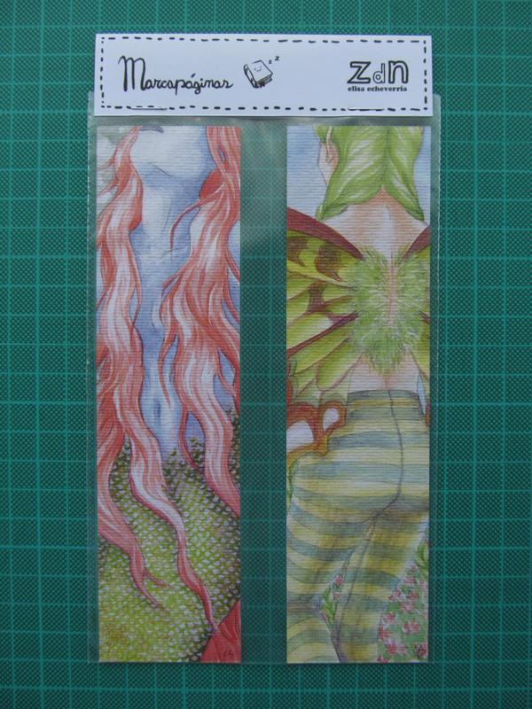 sirena y hada bookmarks by elisa-ep