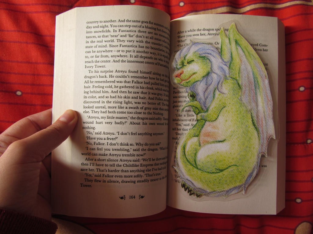 sleeping dragon bookmark by elisa-ep