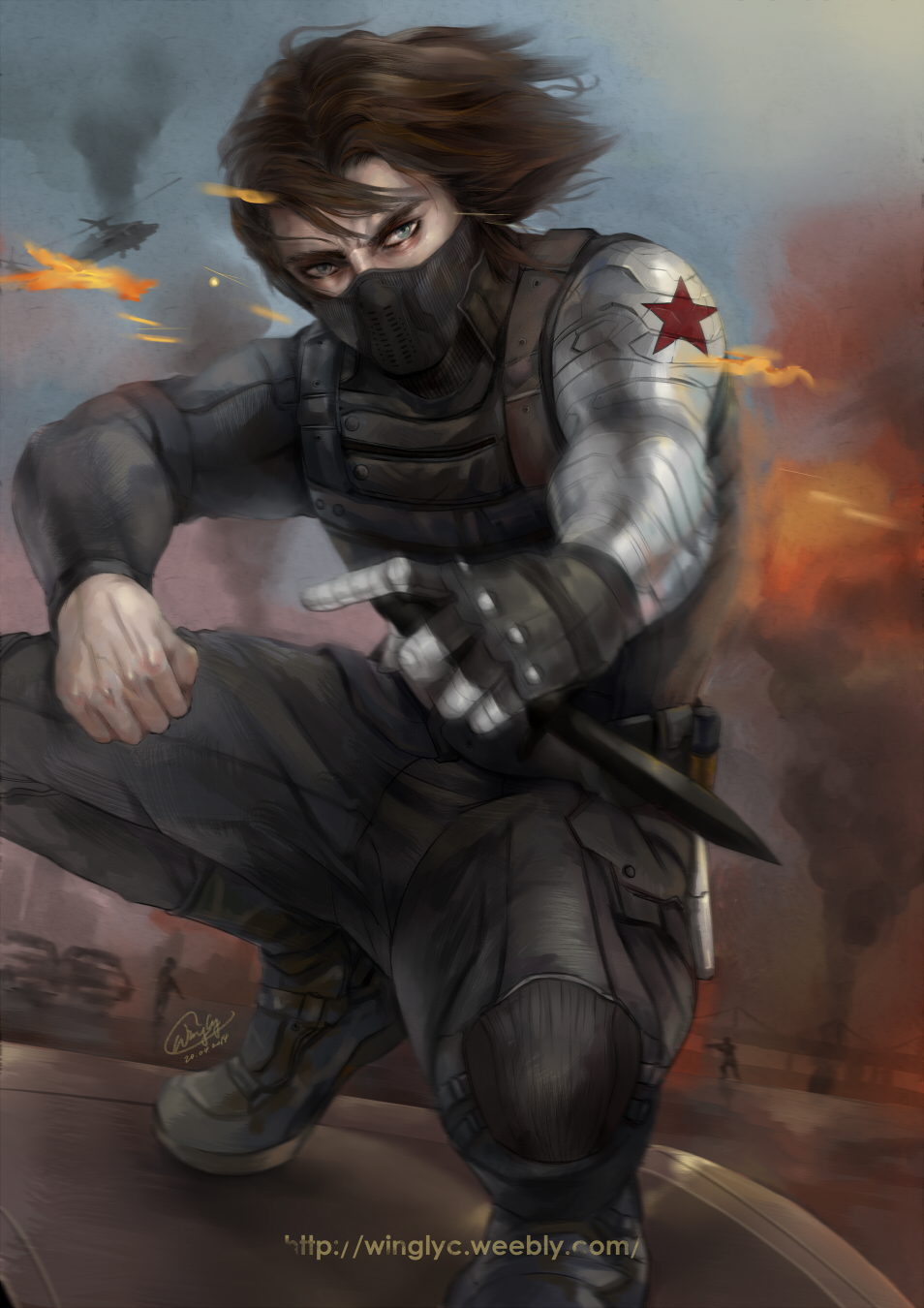 ... Captain America   The Winter Soldier By WinglyC