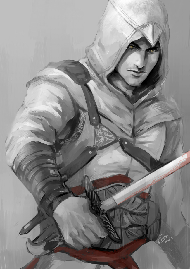 how to draw assassins creed altair