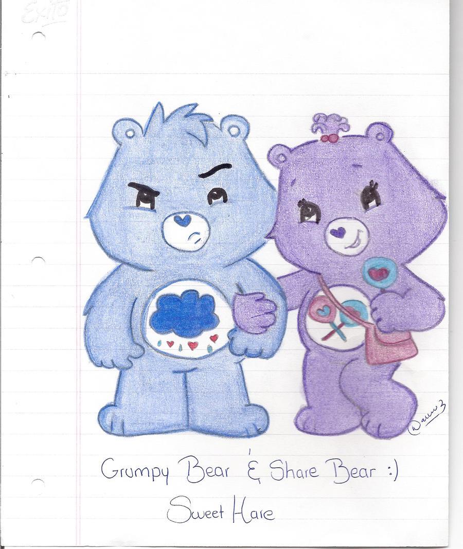 Grumpy Bear and Share Bear by SweetHare on DeviantArt