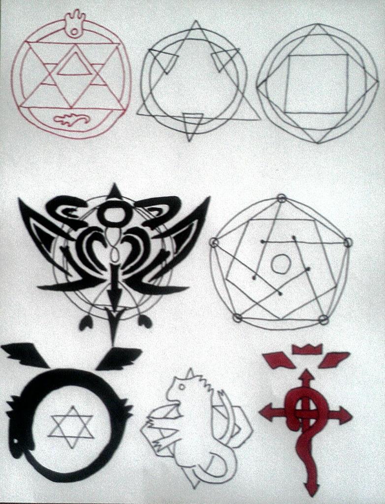 Fullmetal Alchemist Alchemy Symbols By Lunaazar On Deviantart