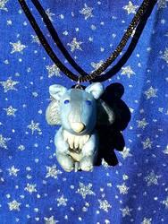 Ice Wolf Necklace by AuroraStars