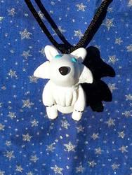 White wolf neckllace by AuroraStars