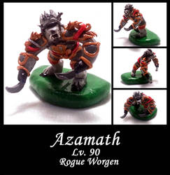 Azamath: WoW Worgen Rogue by AuroraStars