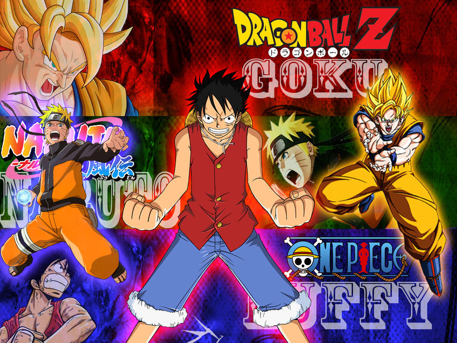 Naruto dragonball z and one piece by kpgtincho22 on - Naruto and dragonball z ...