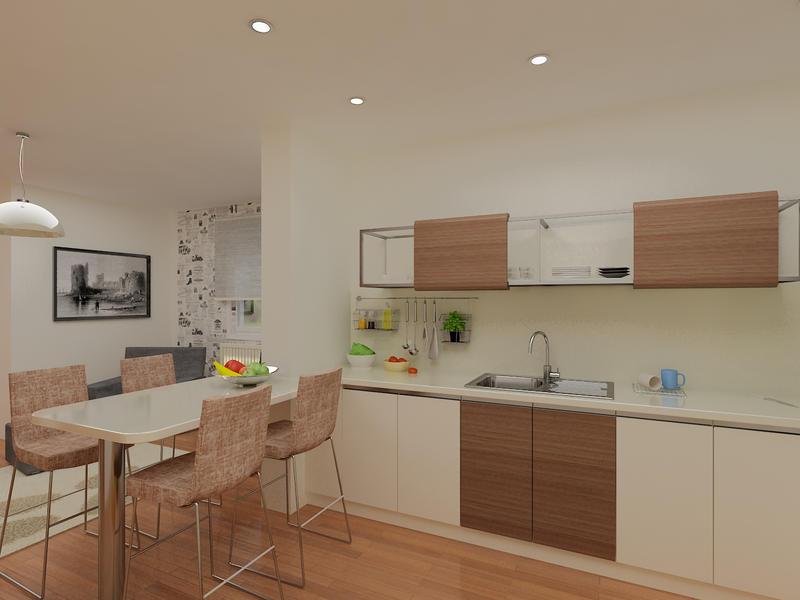 Kitchen To Living Room Seen Trhu Decoration Idea