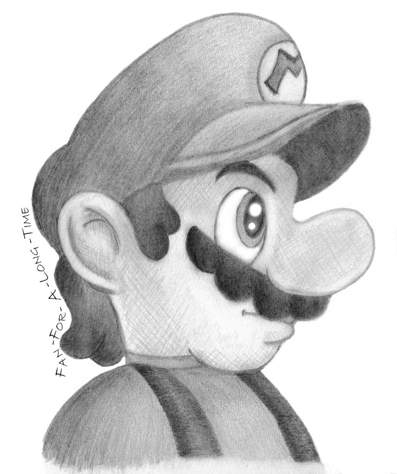 A Super Mario Sketch By Fan-For-A-Long-Time On DeviantArt