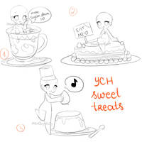[YCH]: Sweet treats OPEN by FluffyQueenz