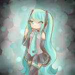 Miku painting 1 by FluffyQueenz