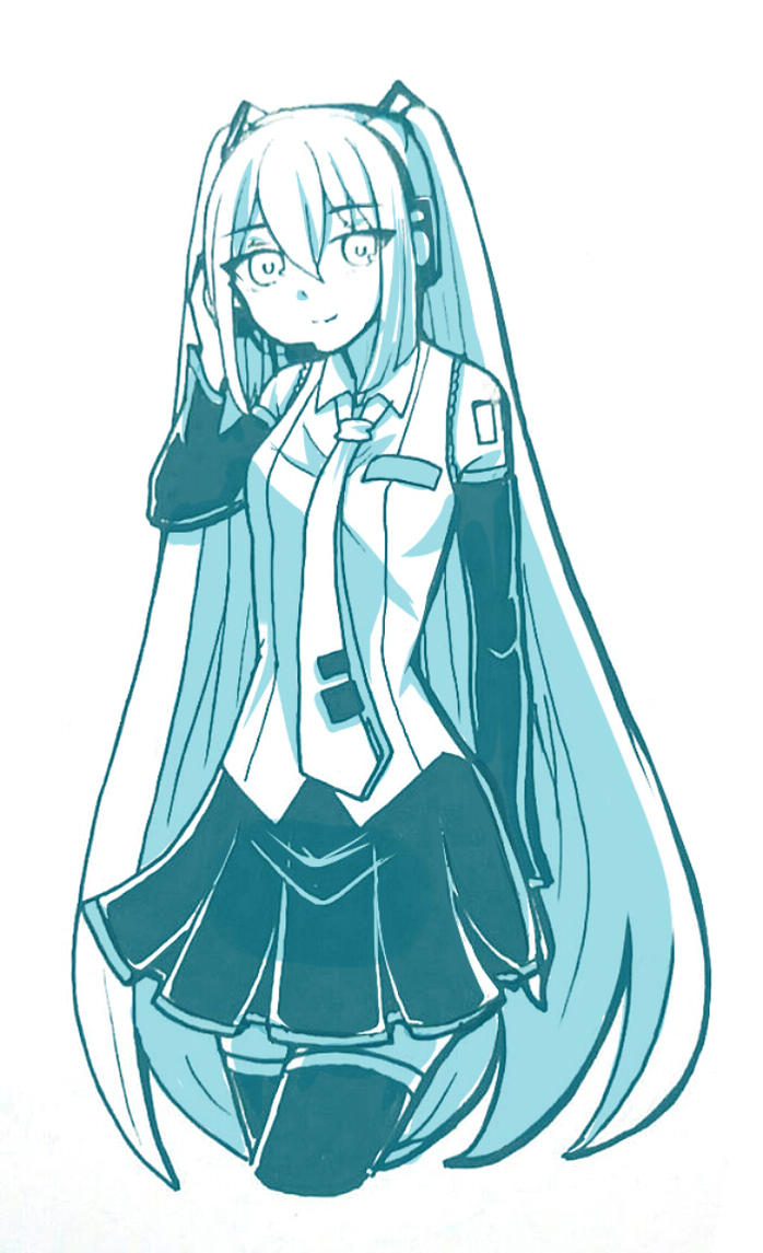Miku ver color by FluffyQueenz
