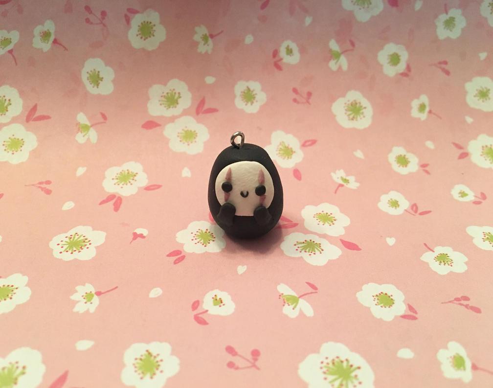 Chibi No-Face Charm by blueoceaneyes101