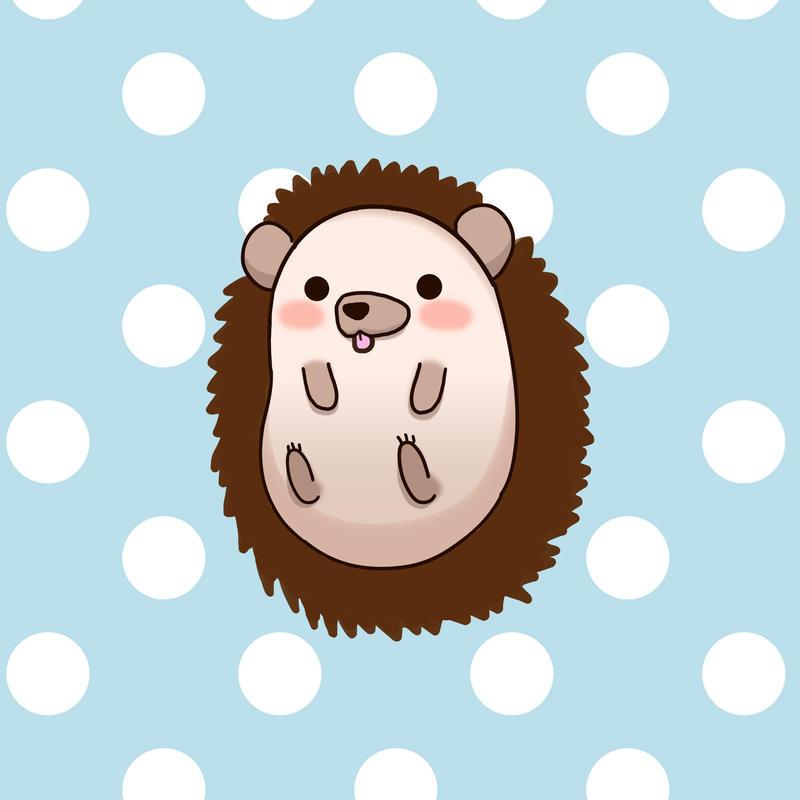 Derpy Chibi Hedgehog by blueoceaneyes101