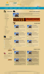 travel guide website layout