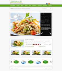 recipes website design