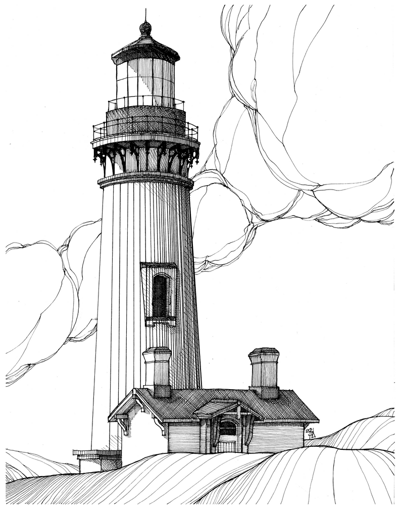 Pencil Of Lighthouses Coloring Pages
