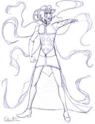 Saevel-Fates - costume 1 pencils by DarkPanthra
