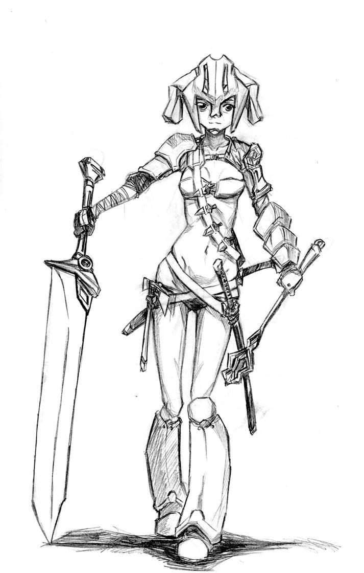 Gladiator Gal by hikarikun on DeviantArt