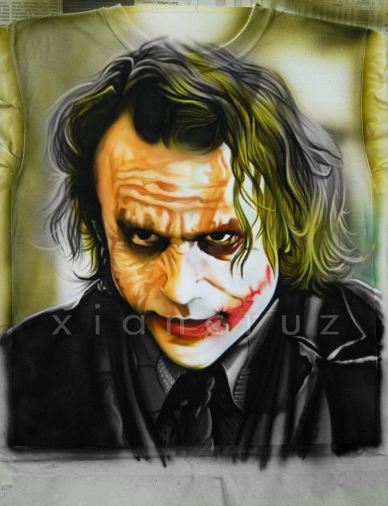 Airbrush Joker Wallpaper: Joker (airbrush On Shirt Part 3) By Onaix On DeviantArt