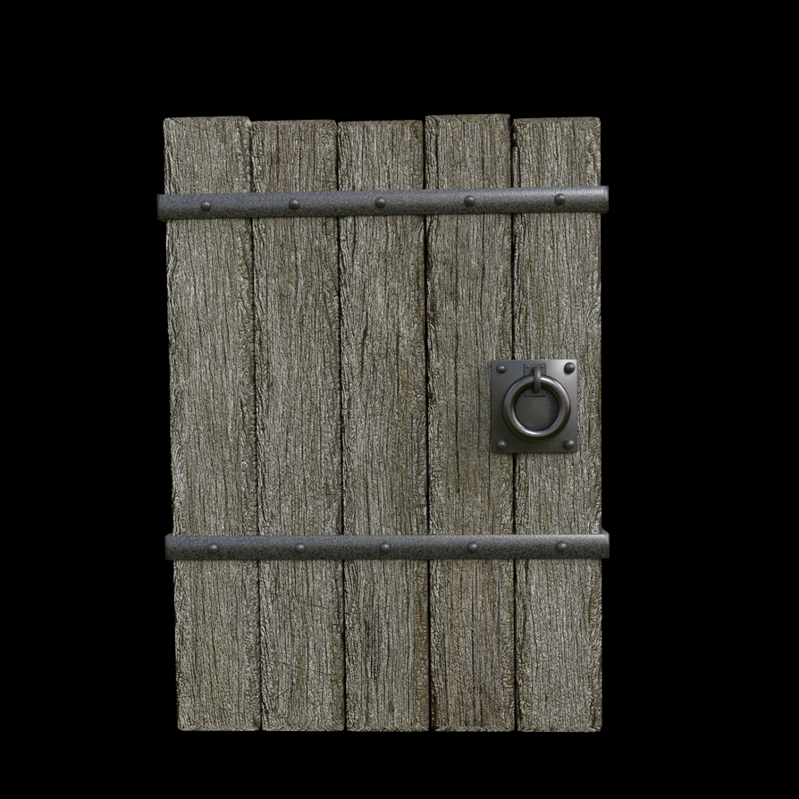 Heavy Wooden Dungeon Door by reborngoat ... & Heavy Wooden Dungeon Door by reborngoat on DeviantArt