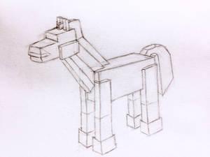 Blocky Horse Sketch