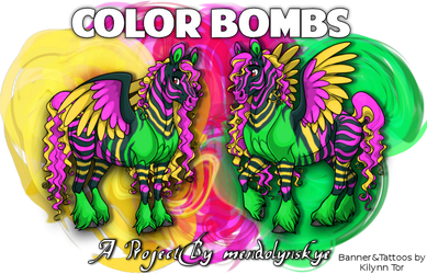 Color Bombs Banner by KilynnTor