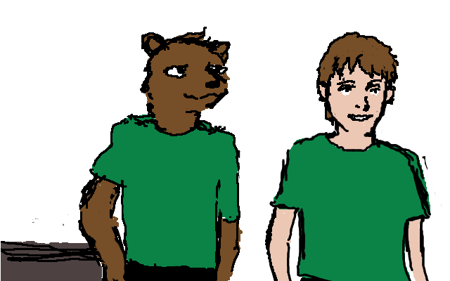 Mongoose and Kid by QRS3000