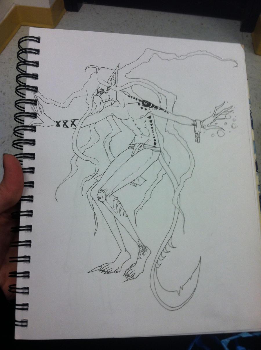 Creepy Monster Dude by Shortbread1008