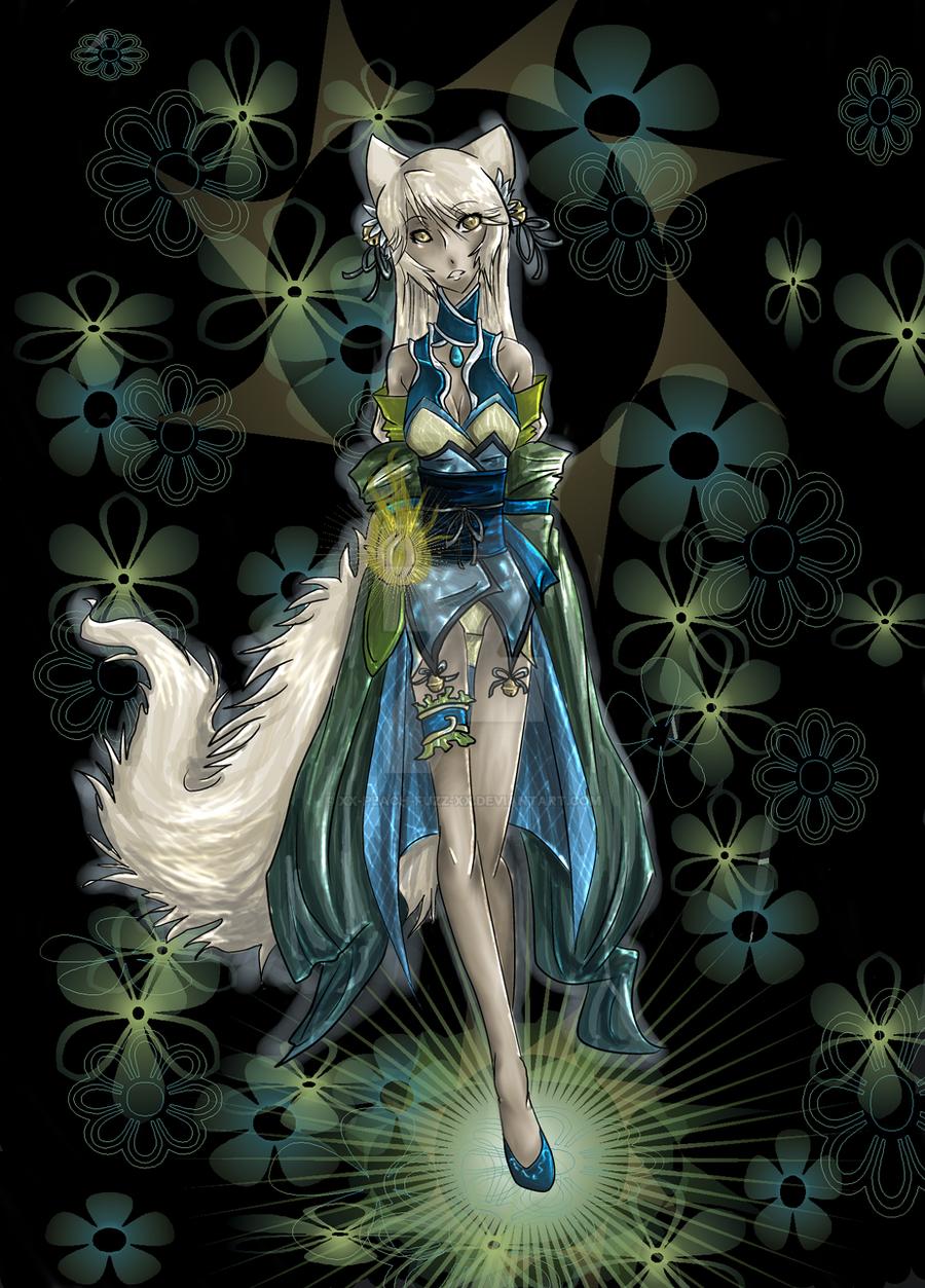 Chinese Fox Demon Girl by xx-Peach-Fuzz-xx