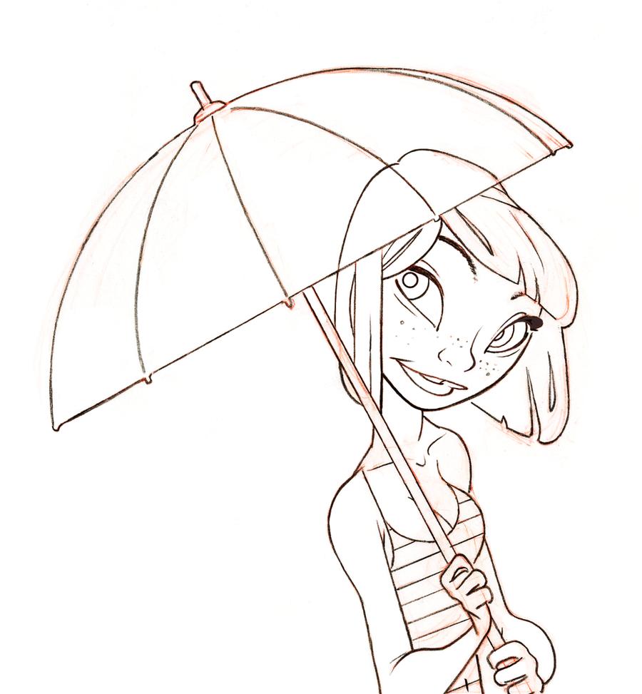 Rain sketch by alohalilo