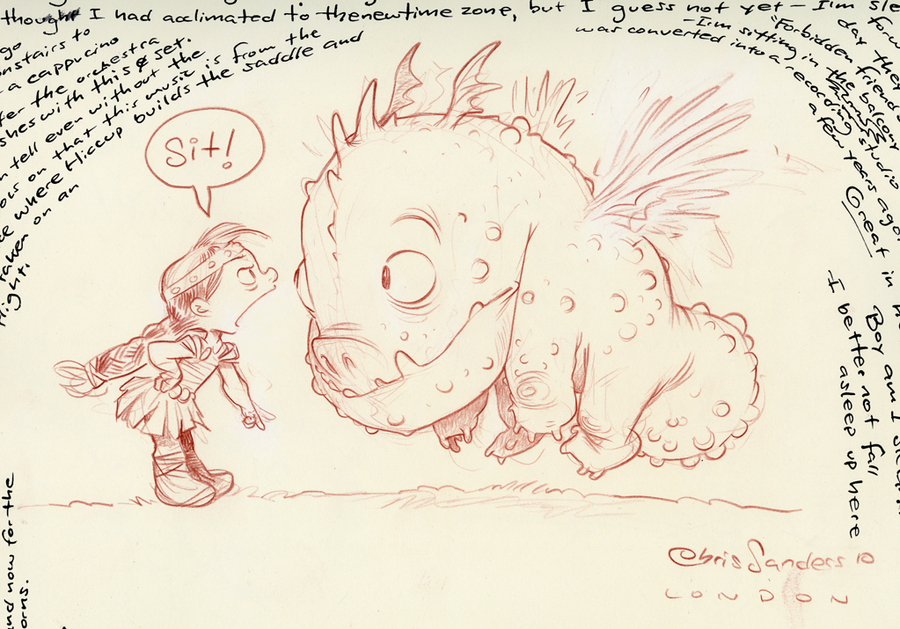Chris Sanders How To Train Your Dragon Concept Art